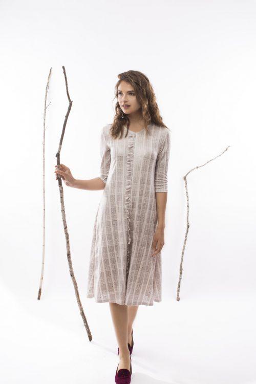 שמלת לילך - שמלות צנועות סטודיו שחרית
